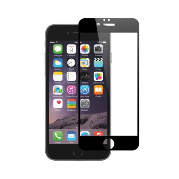 vitre de protection noire en verre tremp iphone 6 6s. Black Bedroom Furniture Sets. Home Design Ideas