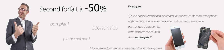 Second forfait à -50%
